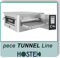 pizza pece Hostek - tunnel line